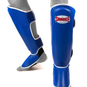 Sandee Authentic Blue & White Leather Boot Shinguard
