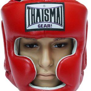 ThaiSmai Red Head Guard Chin and Cheek Protection